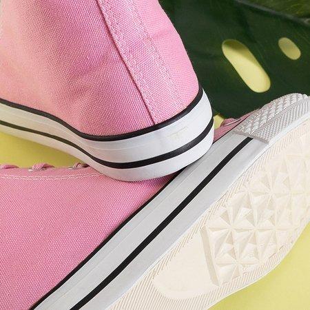 Antonella pink women's high-top sneakers - Footwear