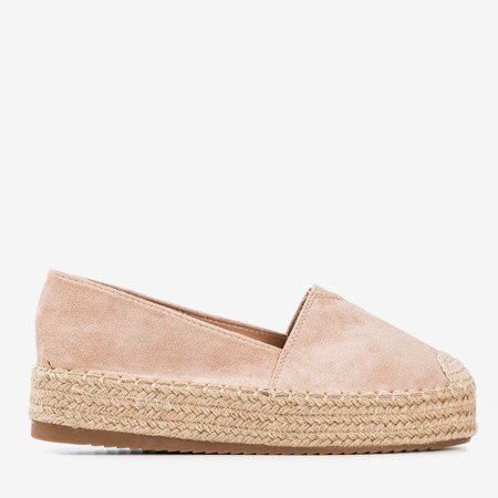 Beige espadrilles on the Roseanne platform - Footwear