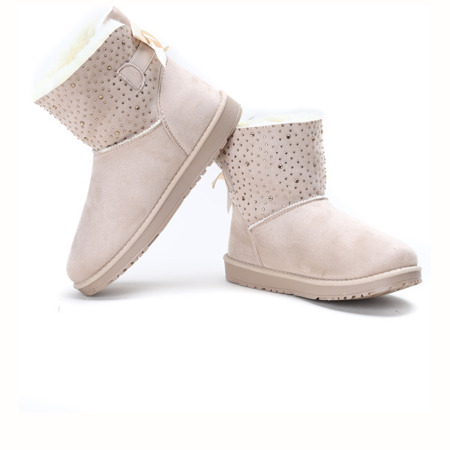 Beige, insulated snow boots Kati - Footwear