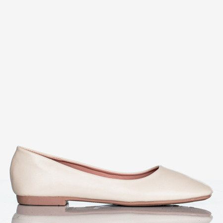 Beige women's flat heels Lin - Footwear 1