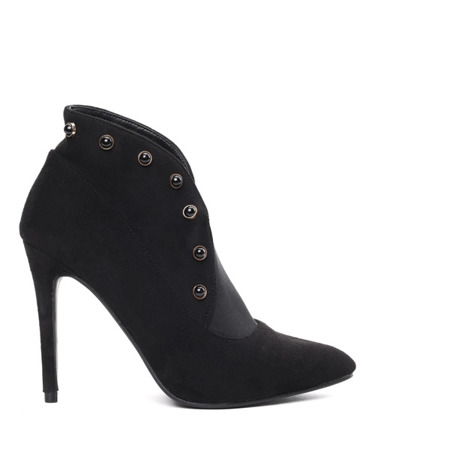 Black ankle boots with stiletto Adoria - Footwear