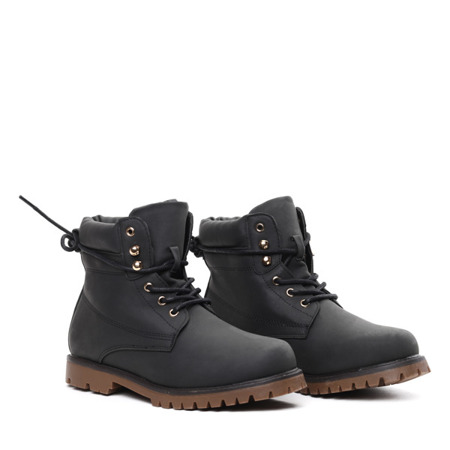 Black insulated hiking boots Journey- Footwear