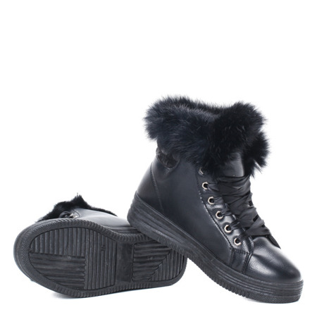 Black, insulated sneakersy Athena - women's Shoes