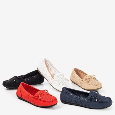 Black loafers with Orisa bow - Footwear