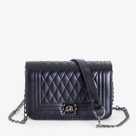 Black quilted shoulder bag - Handbags