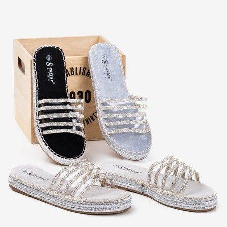 Black transparent flip-flops with Zircons Noumeia - Footwear 1