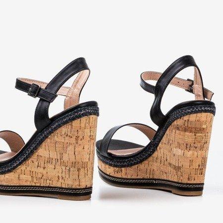 Black wedge sandals Poqasi - Footwear