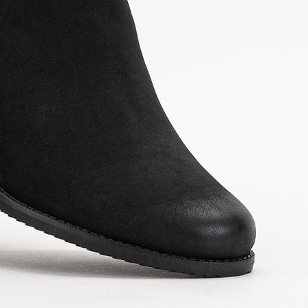 Black women's boots Jodhpur boots with flat heels Tilsa - Footwear