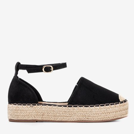 Black women's espadrilles on the Marcita platform - Footwear 1