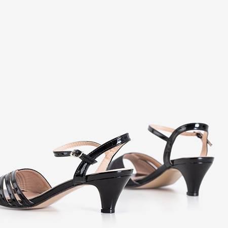 Black women's low-heeled sandals from Fererre - Footwear