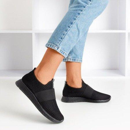 Black women's slip-on sports shoes - on Andalia - Footwear 1
