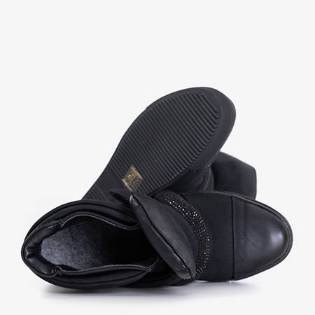 Black women's sneakers on an indoor wedge Agundia - Footwear