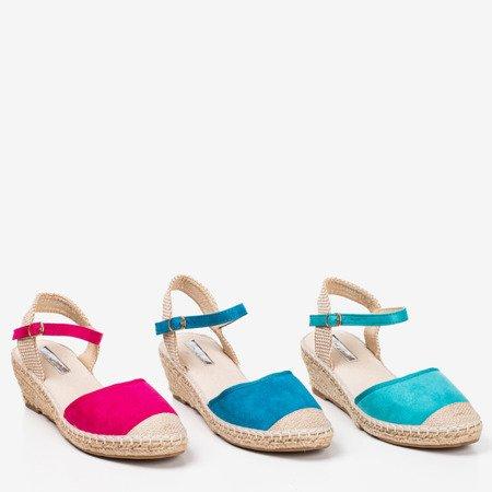 Blue wedge sandals a'la espadrilles Jorcia - Footwear 1