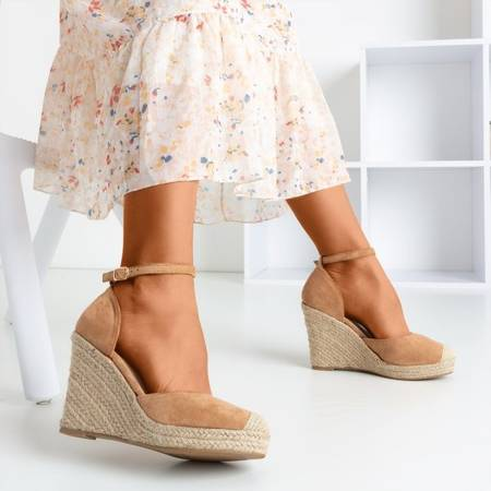 Brown espadrilles on the wedge Bonita - Footwear 1
