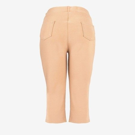 Brown short leggings with a welt - Pants 1