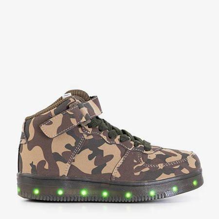 Children's luminous Nicoles camo sneakers - Footwear