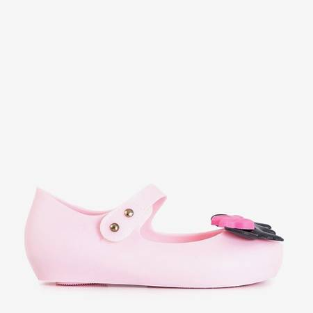 Children's pink meliski with decorations from Blanka - Shoes