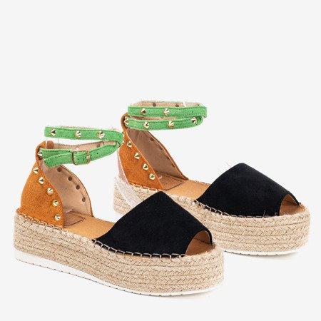Colorful women's sandals a'la espadrilles Irimida - Footwear