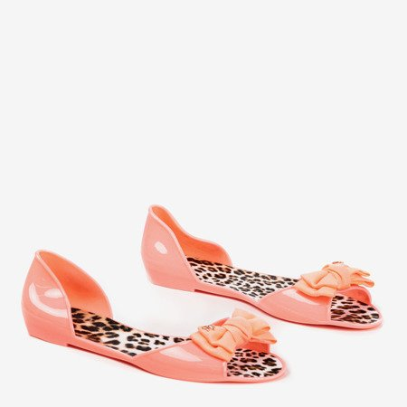 Coral ballerinas with bow Orynea - Footwear