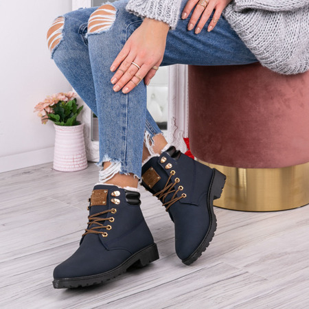 Dark blue insulated zippers Zuri Footwear