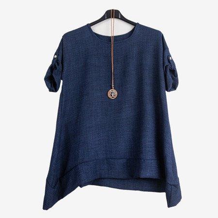 Dark blue women's tunic - Blouses 1