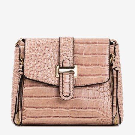 Dark pink women's shoulder bag - Handbags 1