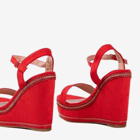 Demeter's red wedge sandals - Footwear