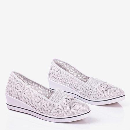 Gray ballerinas on a wedge heel Paciencia - Footwear