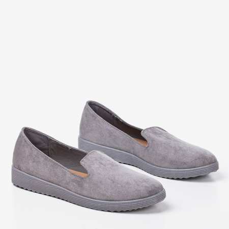Gray loafers Isyda - Shoes 1
