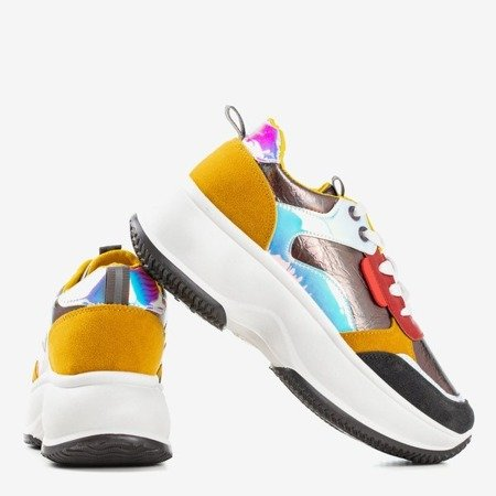 Gray sport sneakers with colorful Lingi inserts - Footwear 1