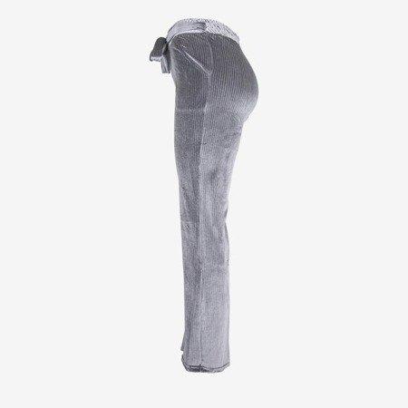 Gray women's straight trousers - Pants 1