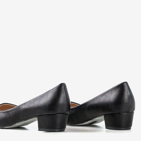 Ladies' Black Flat Heel Pumps Suranttes - Footwear
