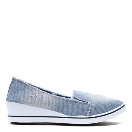 Light blue wedge heel shoes Reese - Footwear