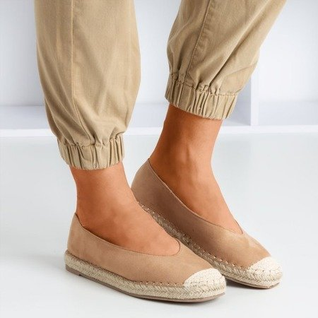 Light brown women's espadrilles Lalina - Footwear