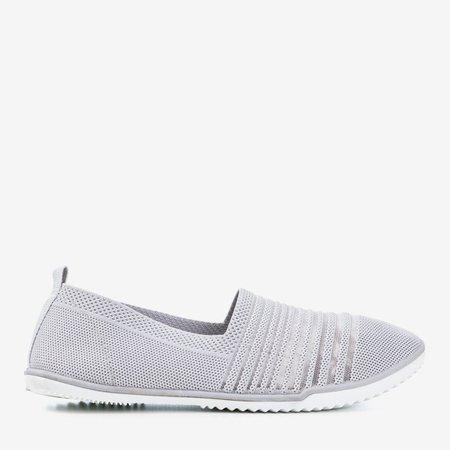 Light gray slip-on sneakers Yeqa - Footwear 1