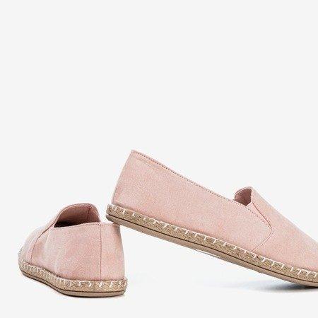 Light pink espadrilles for women from Melicija eco-suede - Footwear 1