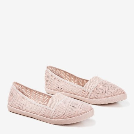 Light pink women's openwork slip - on Ticolisa - Footwear 1