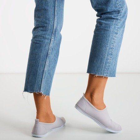 Maywood Gray Women's Slip-On Sneakers - Footwear