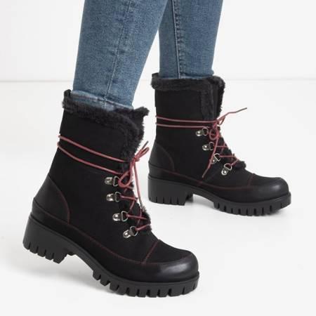 Miratorg Black Women's Lace-up Workers - Footwear