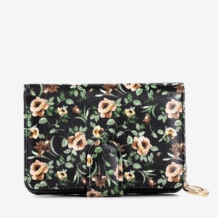 Multicolor, small wallet with floral print - Wallet 1