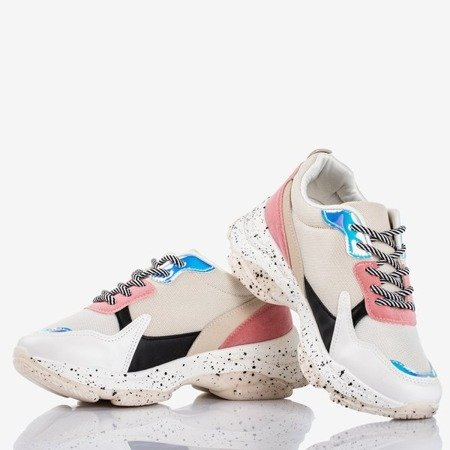 Multicolor women's sneakers with holographic Muzzis inserts - Footwear 1