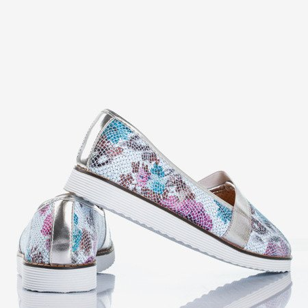Multicolored women's ballerinas with silver finish Nasulsha - Footwear 1