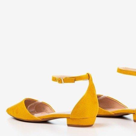 Mustard flat women's ballerinas Arinida - Footwear