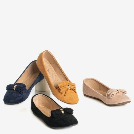 Navy blue ballerinas with Fralise decoration - Footwear 1