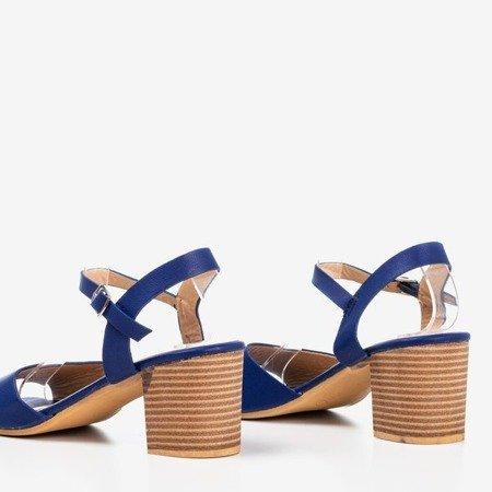 Navy blue high heel sandals Loaha - Footwear