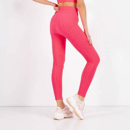 Neon Pink Women's Sports Leggings - Clothing
