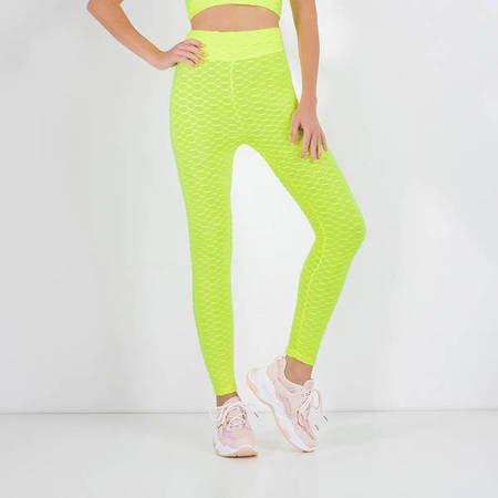 Neon Yellow Women's Sports Leggings - Clothing