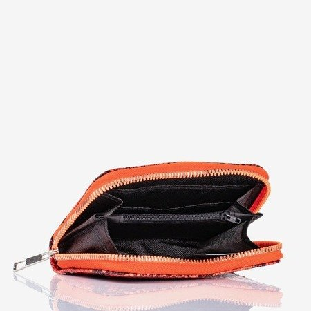 Neon orange small wallet a'la snakeskin - Wallet