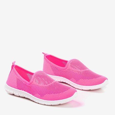 Neon pink women's slip-on sport shoes - on Boreia - Footwear 1