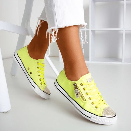 Neon yellow sneakers with Likey inserts - Footwear 1